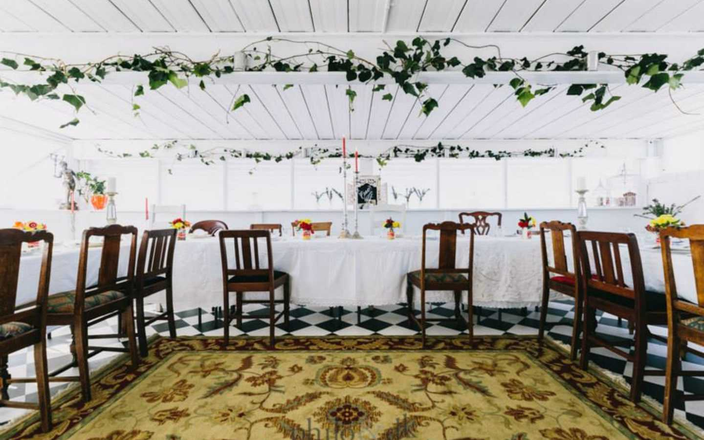 A beautiful space for a long table lunch