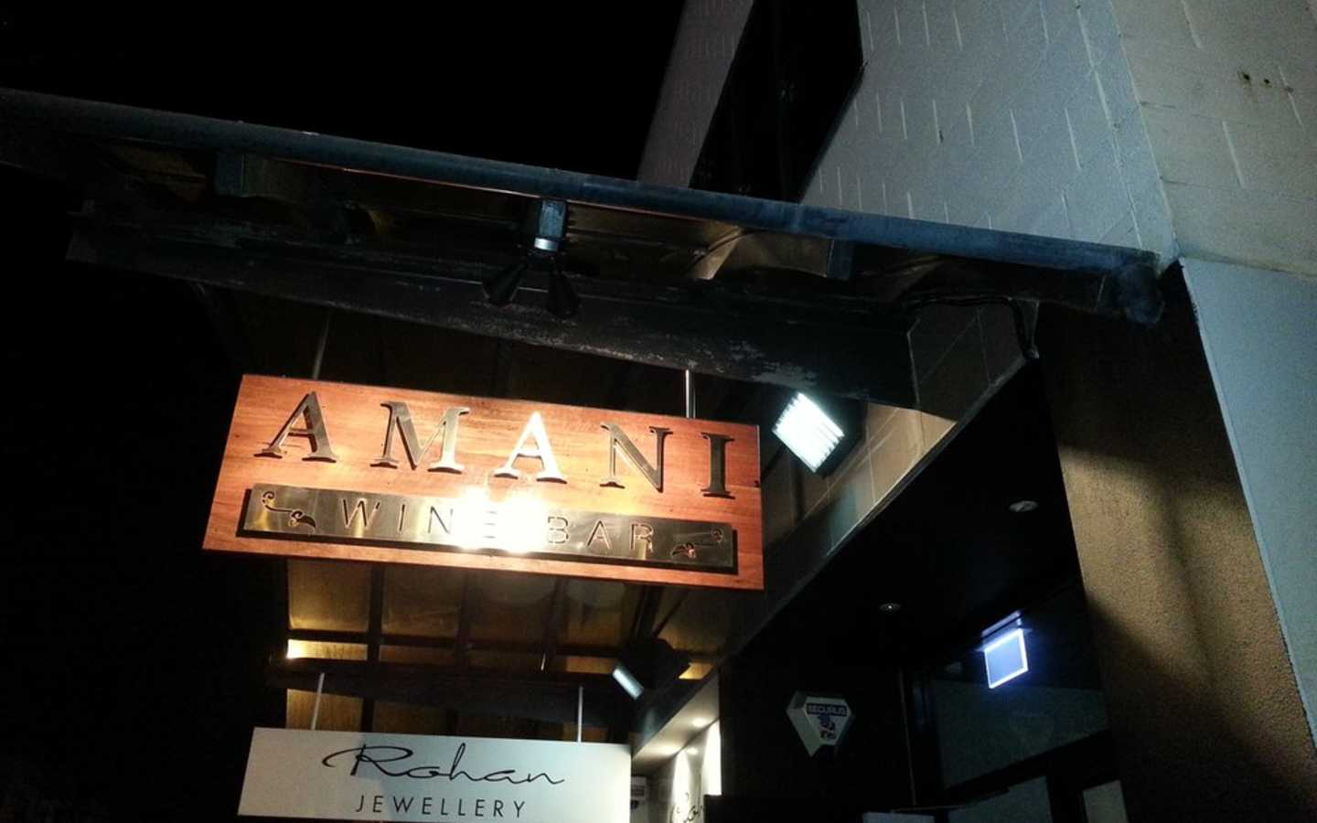 Amani Bar & Kitchen. Are you a Lay-dee?