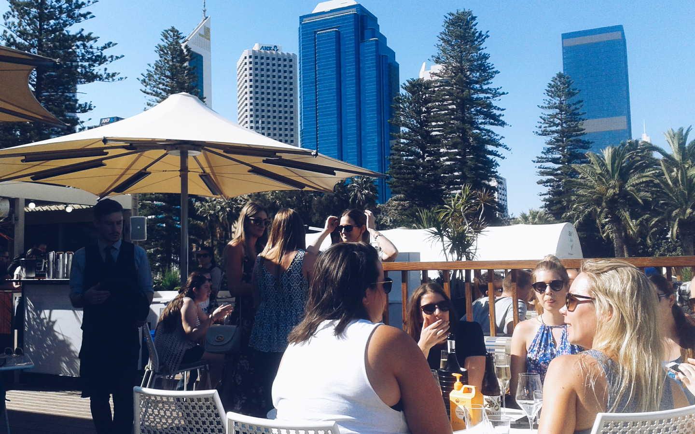 Aqua Bar. Drinking in those blue water views.