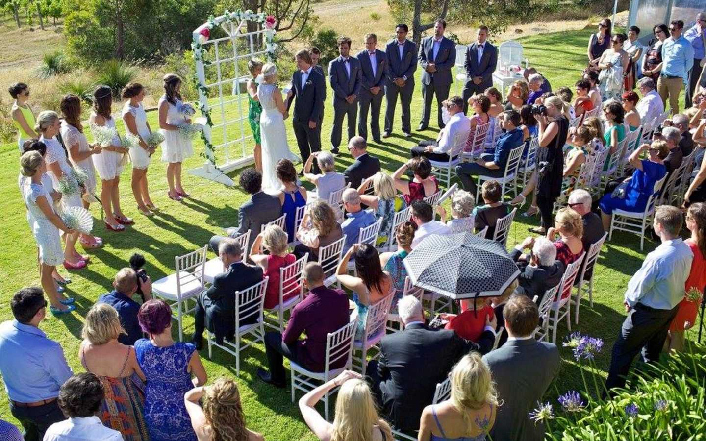 Large outdoor ceremony